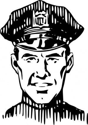 Policeman Head clip art
