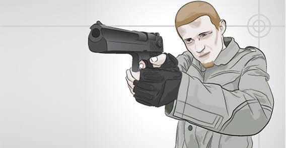 free vector Serious Man with gun free vector