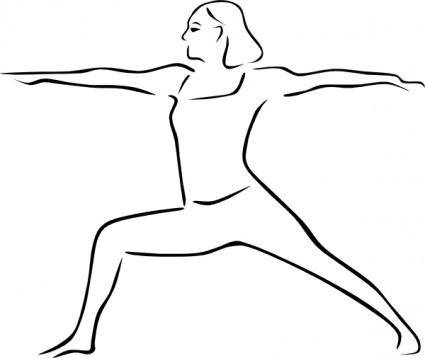 free vector Yoga Poses Stylized clip art