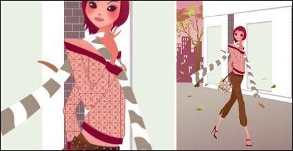 free vector Fall fashion beauty personalized