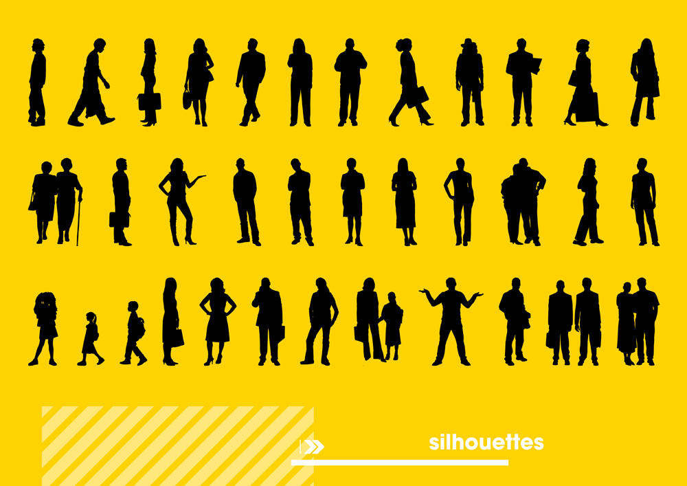 free vector Different human Silhouettes
