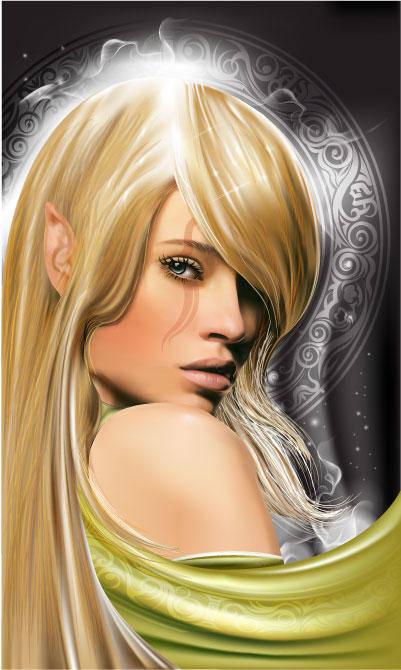 free vector Fairy girl