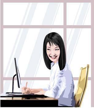 free vector Business women 1