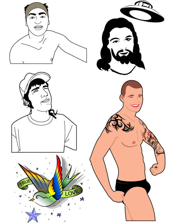 free vector Ilustrations of people and freak culture