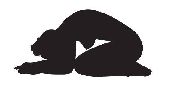 free vector Yoga girl silhouette free vector