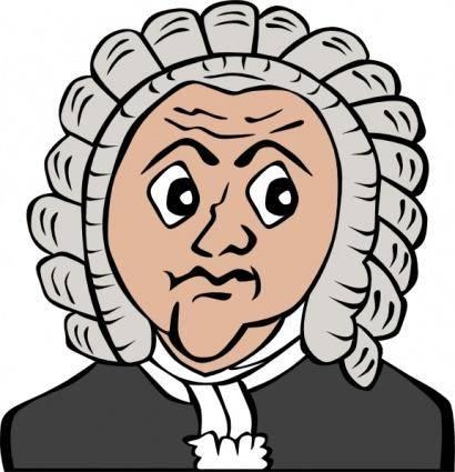Bach Cartoon Bust clip art