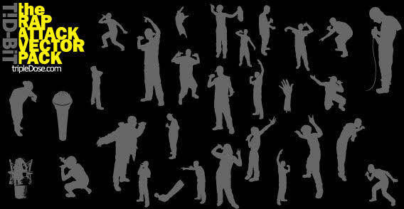 People in move silhouettes free vector