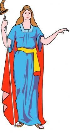 Lady Blue Dress clip art