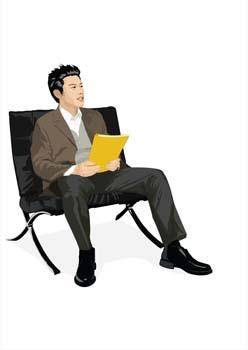 free vector Sit man position vector 2