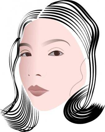 Face Of A Lady clip art