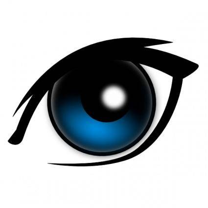 free vector Cartoon Eye clip art
