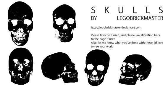 Skull types free vectors