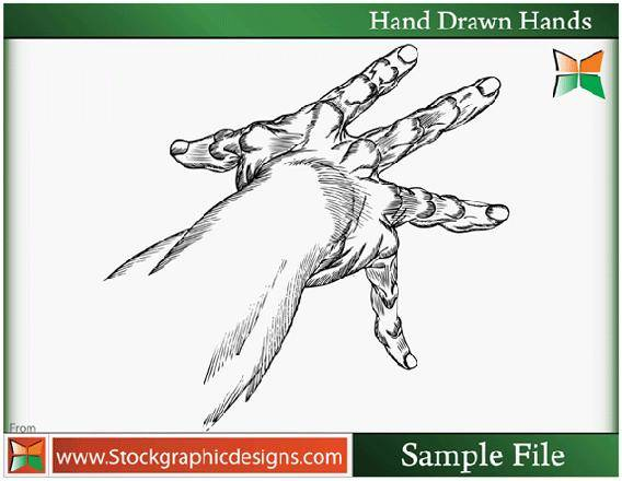 Hand Drawn Hands