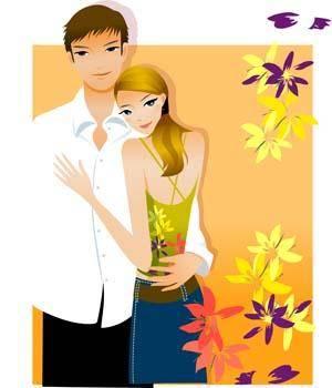 free vector Happy couple in love 5