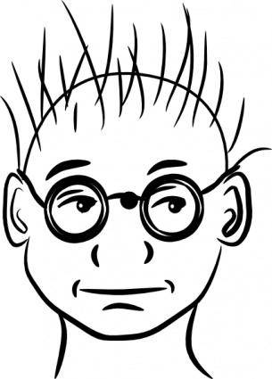 free vector Human Face Glasses clip art