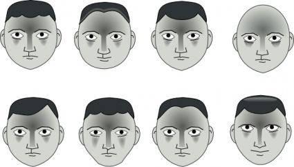Human People Cartoon Heads clip art