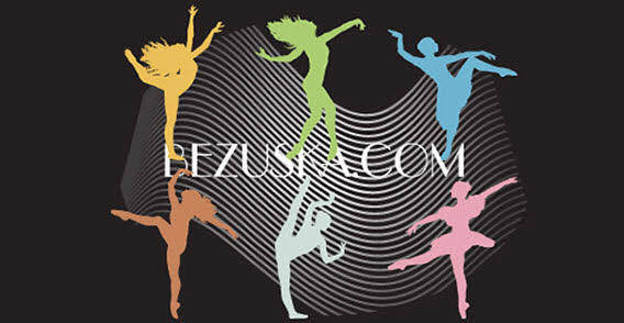 Colorful dance silhouette free vector