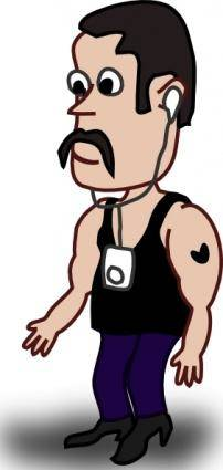 Muscular Man clip art