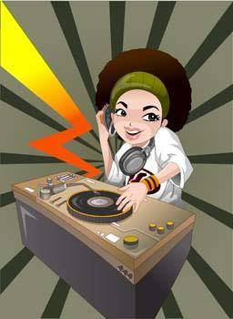 free vector Disc Jockey 3