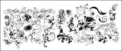 free vector Several practical dynamic black-and-white pattern