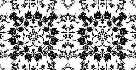 free vector Black and White floral wallpaper