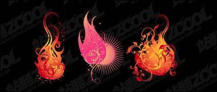 free vector Flame pattern vector modeling material