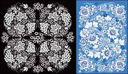 2 beautiful pattern vector