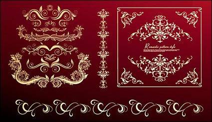 free vector Continental practical lace pattern vector material