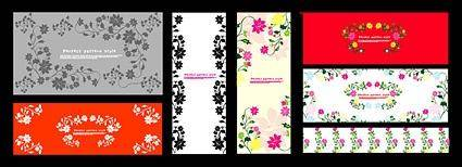 free vector Exquisite decorative patterns
