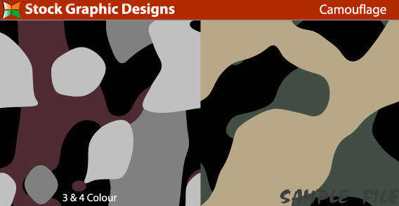 free vector Sample file from seamless camouflage pattern