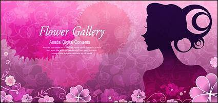free vector Flower and beauty vector material-4