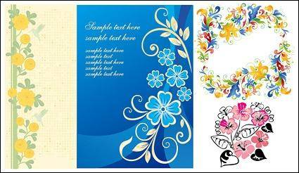Lovely flower design pattern vector material