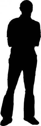 Man Silhouette clip art 125868