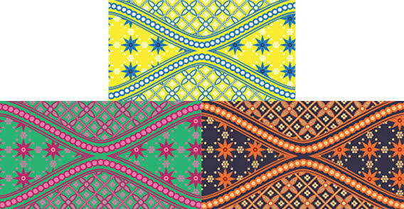 free vector Batik swatches free vector
