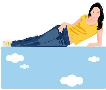 Girl in lay position vector 10