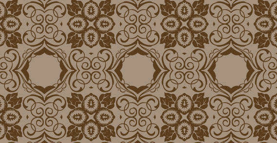 free vector Brown seamless floral wallpaper