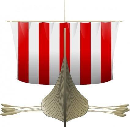 Viking Longship clip art