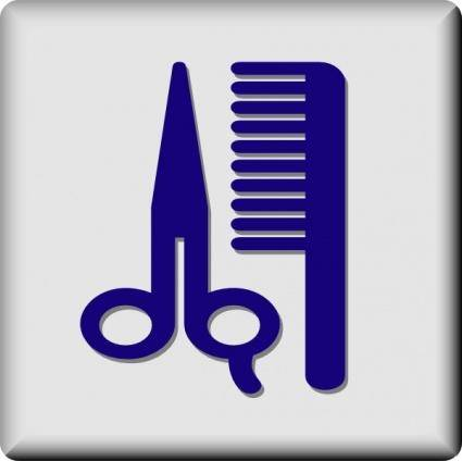 Hotel Icon Barber Or Hair Dresser clip art