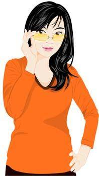 Beautiful girls vector 11