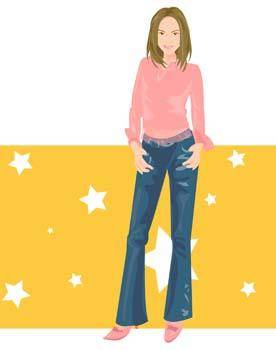 free vector Jeans Girl Vector 2