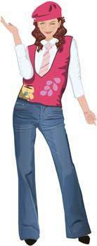 free vector Jeans Girl Vector 9
