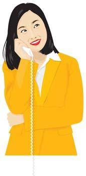 free vector Girl with phone 37