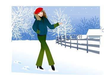 free vector Beautiful sexy winter girl 2