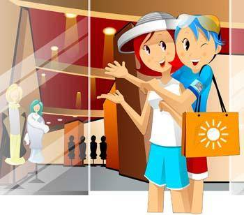 free vector Shopping vector 2