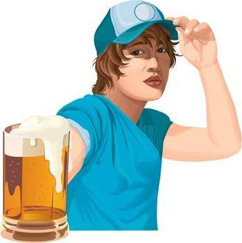 free vector Girl with drink 6