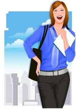 free vector Business women 8