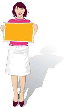 free vector Girl carrier board 4