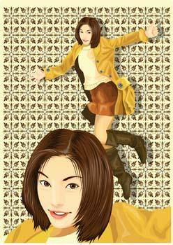 free vector Beautiful Urban Girl 17