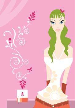 free vector Beautiful girls vector 2