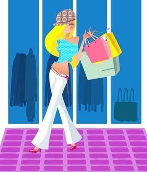 free vector Shopping girl 12